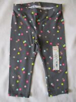Jumping Beans Gray Leggings Polka Dot Confetti Girls Size 12 24 months New