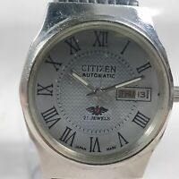 Vintage Citizen Automatic Movement,  Day, Date Dial Mens Analog Wrist Watch A139