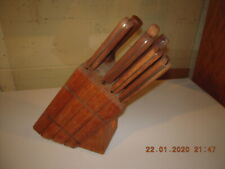 Vintage Chicago Cutlery - 10 Piece Knife and Block Set