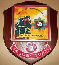 Buckinghamshire Fire and Rescue Service wall plaque personalised free of charge.