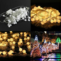 33ft Balls 100LED Fairy String Lights Xmas Christmas Round Wedding Party 10M