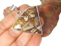 Botswana  AGATE  Sterling  Silver  925  Gemstone  PENDANT  -  UK  Hallmark