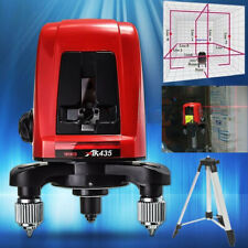 USA AK435 360 Degree Self-leveling Cross Laser Level Red 2 Line 1 Point With Bag