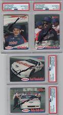 1992 Traks Baby Ruth Jeff Gordon NASCAR Signed Auto 4 Card Set PSA/DNA