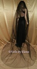 """Wedding Bridal Veil Gothic Cathedral Costume 108"""" Width 108"""" Length Pencil Edge"""