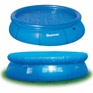 12FT POOL COVER FAST SET ROUND PADDLING POOL COVER SHEET 12FT