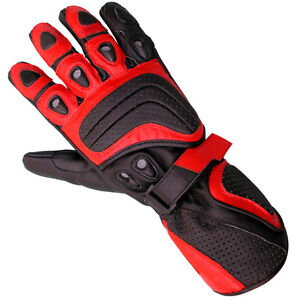 New Styish Cowhide Leather Fine Motorcycle Gloves Motorbike Biker Collection