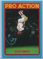 2021 Topps Throwback Thursday Ozzie Smith Blue Parallel #d 7/10 Cardinals SP #30