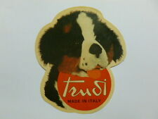 VECCHIO ADESIVO / Old Sticker PELUCHES TRUDI CANE DOG (cm 10 x 12) e