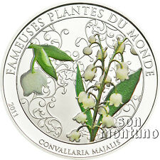 LILY OF THE VALLEY - Flower Scented Ag Plated CuNi Coin 2011 Benin FAMOUS PLANTS