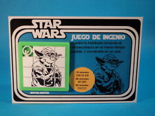 STAR WARS * YODA * SLIDE PUZZLE SKILL GAME * RARE ITEM * CARDED ARGENTINA