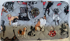 Vera Bradley Best in Show Puppy Dog Print Iconic RFID Turnlock Wallet