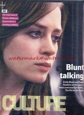 EMILY BLUNT - Cover & Photo Feature in UK CULTURE Magazine, Oct 2016