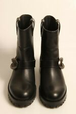 COACH Ladies Black Leather Boots UK 4 Ex-Display (CLEIGHBK647101)