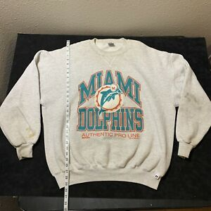 Russell Athletic Miami Dolphins Authentic Pro Line 1995 Sweatshirt Rare XXL USA