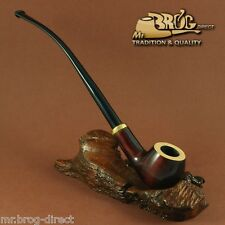 "OUTSTANDING Mr.Brog original smoking pipe nr.14 BROWN SW TopWhite ""CHURCHWARDEN"""
