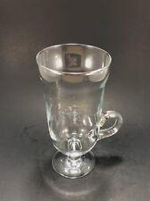 Pedestal Footed Clear Irish Coffee Mug Cup