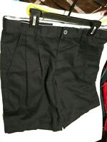 Men's Shorts Size 30x9 Black Pleated