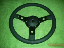 "Steering Wheel (14"" Leather) & Boss, Austin Healey Sprite, MG Midget, MGA, MGB"