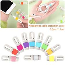 10x USB Data Charger Cable Protector Saver Earphone Winder Protective For Phones