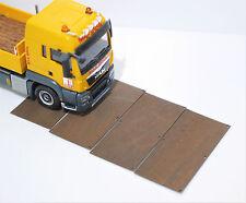 1:87 EM3033 10x Fahrwegsplatten Stahlplatten für Herpa Diorama Umbau Eigenbau