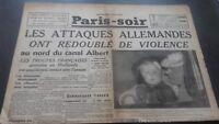 JOURNAUX PARIS-SOIR  N°6083 MARDI  14 MAI 1940 ABE