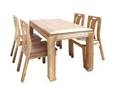 Oriental Light Wood Dining Table 4 Chairs Set cs1555