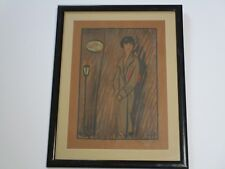 ANTIQUE ART DECO LITHOGRAPH HAND COLORED SIGNED WOMAN MODEL FLAPPER HOTEL ELLER