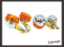 [LG667] SUZUKI GT125 GT185 GT250 GT350 TS400 FRONT + REAR SIGNAL 4PCS 12V (CA)
