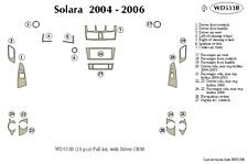 TOYOTA SOLARA 2004 2005 2006 DASH TRIM KIT b