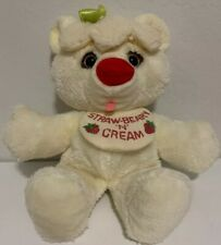 "Vintage 1982 Commonwealth Bearys 'N' Cream Plush 16"" Bear Straw-Beary W/ Bib"