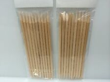 Orange Wood Stick Manicure Wooden Cuticle Pusher REMOVER IMPLEMENT NAIL 20PCS