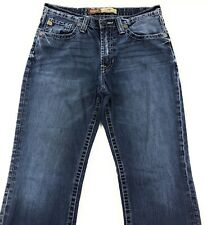 Big Star Pioneer Bootcut Jeans Mens Size 33 Distressed Med Wash Cotton