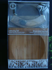 NEW WARES AND WARES BAMBOO CUTTING BOARD + MINCING SET SEALED FREE SHIPPING