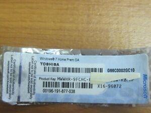 Original MS Windows7 Home Premium Aufkleber Lizenz Key.Kostenlos Update auf W10.