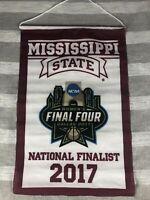 Mississippi State Bulldogs Womens Final Four Finalist Banner 2017 MSU 17.5x11.5