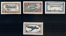 LATVIA #CB21a-24a, Complete IMPERF Airmail set, og, LH, VF, Scott $170.00