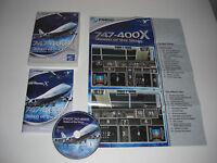 PMDG 747-400 X QUEEN OF THE SKIES Pc Cd Rom Add-On Flight Simulator X  FSX FS