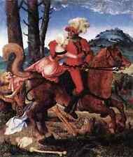 Baldung GRIEN Hans il Cavaliere la fanciulla e morte 5 stampa in A4