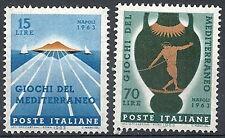1963 ITALIA GIOCHI DEL MEDITERRANEO MNH **