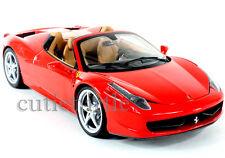 Hot Wheels Elite Ferrari 458 Italia Spider 1:18 Diecast Model Car BCJ89 Red