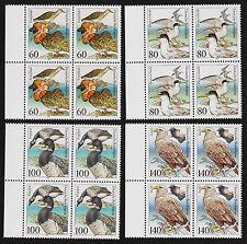 1991 germany Sea Birds Set Sc#1649-52 Mi#1539-42 Margin Blocks MNH