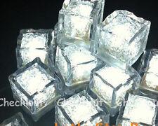 6 White led Ice Float Waterproof Wedding Floral Tea Vase Centerpiece light