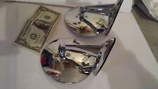 VINTAGE CHROME ROUND MIRROR SET 2  FLAT GLASS