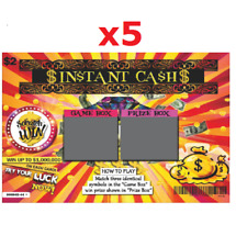 "Fake Lottery Tickets / Cards - Multi-Pack - 4x3"" - Great Prank for April Fools!!"