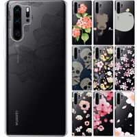 For Huawei P 30Pro 20 10 Soft TPU Phone Case Pattern Print Clear Silicone Cover