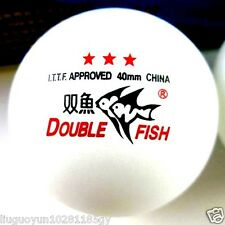2 Boxes (6 Pcs) Double Fish 3 Stars 40MM Olympic Games White Ping Pong Balls