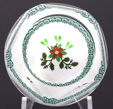 Dazzling PERTHSHIRE Multifaceted CHRISTMAS BOUQUET Art Glass PAPERWEIGHT