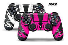 Dual Skin Sticker Wraps 2 Pack PS4 Playstation 4 Remote Controller Decals NUKE