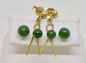 Gemstone, Natural Stone, Precious Stone Dangling Earring Natural White Jade Nephrite Pair 050